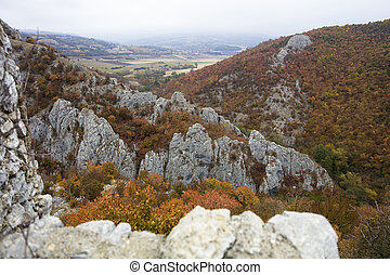 Autumn countryside near Soko Banja, Serbia