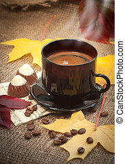 autumn cup of coffee