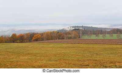 Autumn czech landscape around castle Hluboka nad Vltavou