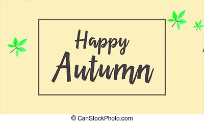 Autumn day banner animation style background