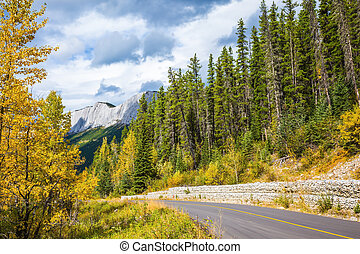 Autumn day in the Canadian Rockies