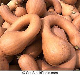 Autumn decoration orange gourds 2