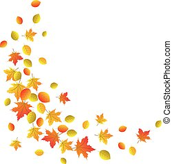 Autumn decorative border