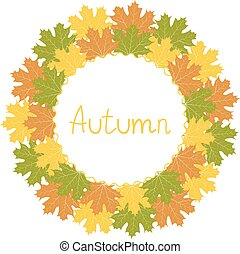 Autumn decorative frame, vector illustration