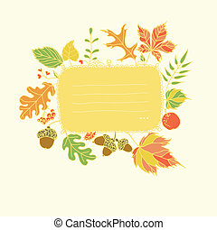 Autumn design element with place for text