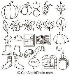 Rain boot rubber boots autumn elements creative design template autumn design elements vector illustration maxwellsz