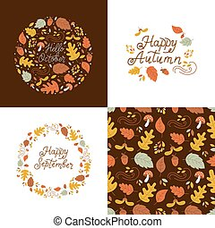 Autumn design set
