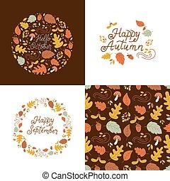 Autumn design set