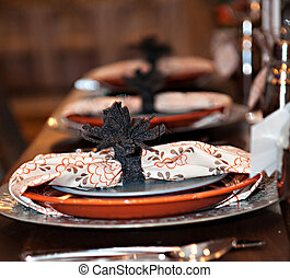 Autumn Dinner Party Plates - Dinner party plates. Selective...