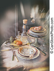 autumn dinner table