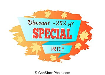 Autumn Discount Special Price Vector Illustration