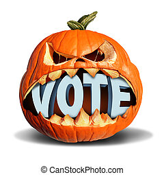 Autumn Election Vote - Autumn election vote symbol as a jack...