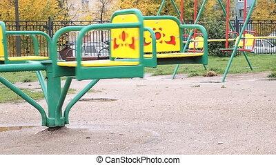 empty carousel - autumn, empty carousel