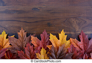 Autumn Fall background for Thanksgiving or Halloween with...