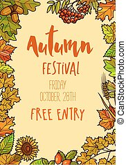 Autumn Fall Festival template background.