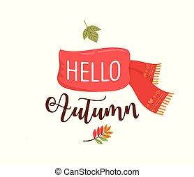 Autumn, fall season background, banner