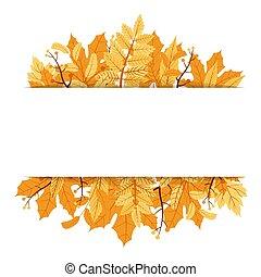 Autumn Fall Season Leaf Greeting Invitation Card Frame Background Bouquet