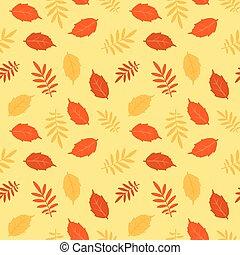 Autumn fallen leaves vector seamless pattern