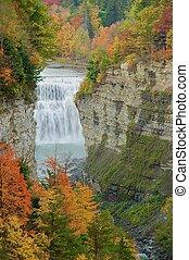 Autumn Falls in Letchworth