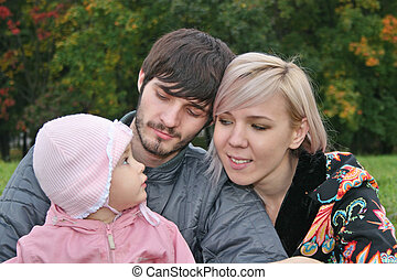 autumn family with baby