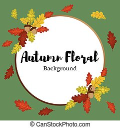Autumn floral background.
