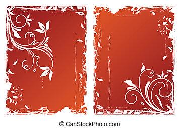 Autumn floral backgrounds
