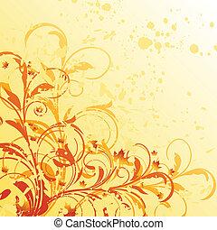 Autumn floral grunge background