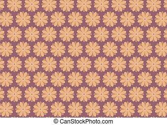 Autumn floral pattern