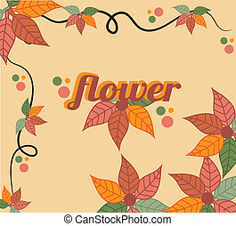 autumn flowers design