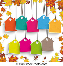 Autumn Foliage House Price Stickers
