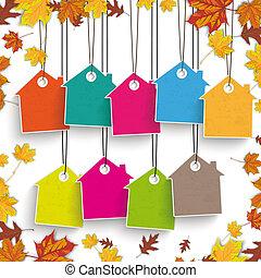 Autumn Foliage House Price Stickers