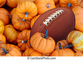 Autumn Football - Thanksgiving Day football and autumn...