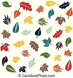 Autumn forest pattern