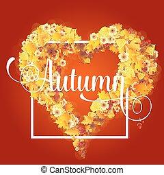 Autumn Frame in Shape of Heart
