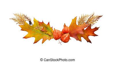 Autumn frame of fallen leaves