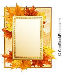 Vector illustration - autumn leaves frame