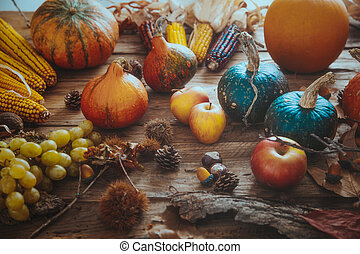 Autumn fruit setting