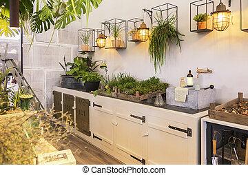 garden space in home terrace