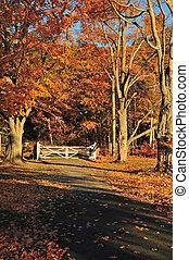 Autumn gate in Portrait