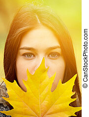 Autumn girl portrait