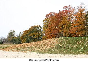 Autumn golfing