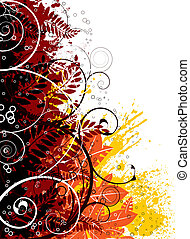 autumn colors on a floral gothic image ideal as a background