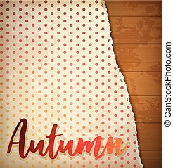 Autumn greeting background, vector illustration