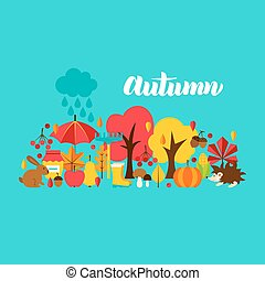 Autumn Greeting Postcard