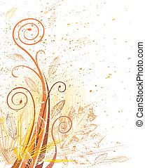 Autumn Grunge Flora