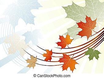 grunge leaves background - Autumn grunge leaves background-...