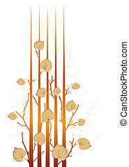 Autumn grunge leaves-vector sketch of variants with ...