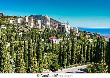 Autumn Gurzuf. Big Yalta, Crimea, Ukraine. September 2007