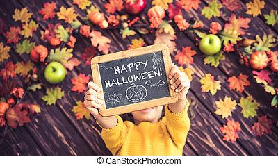 Autumn Halloween Holiday Concept