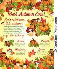 Autumn harvest celebration banner template design